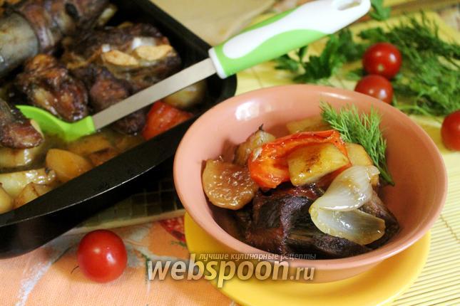 Фото Жаркое по-домашнему с говядиной в духовке