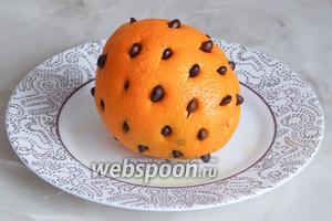 Вот такой у нас получился весёлый апельсинчик.