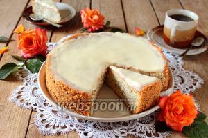 Пирог с маком и сливочной заливкой