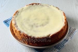 Наш пирог с маком и сливочной заливкой готов. Приятного чаепития!