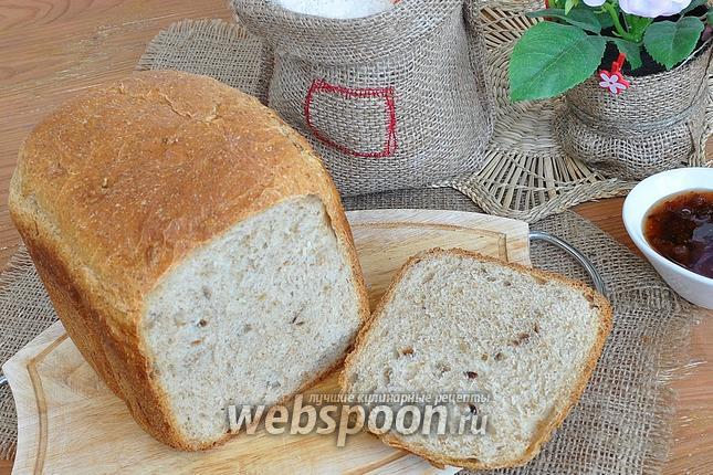 Фото Хлеб с овсяными отрубями и семенами подсолнечника в хлебопечке