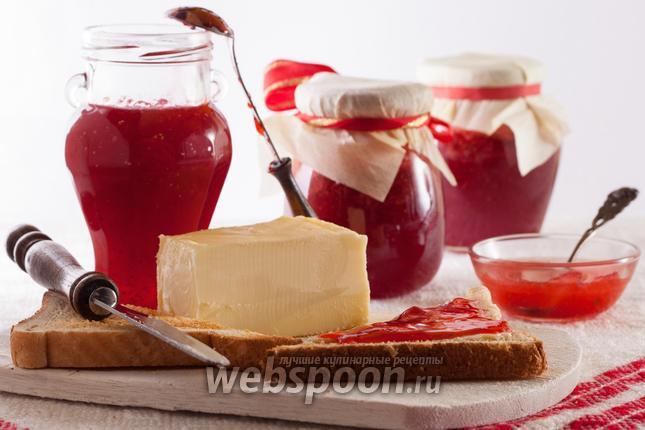 Фото Клубничный джем с ванилью и лимонной цедрой