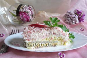 Крабовый салат «Нежный»