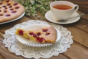 Вишнёвый пирог на желтках