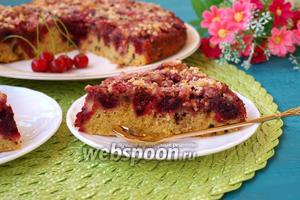 Вишнёвый пирог с шоколадом