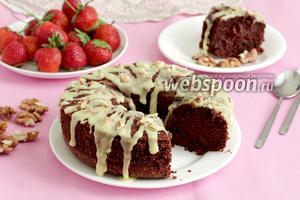 Шоколадно-ореховый кекс без муки