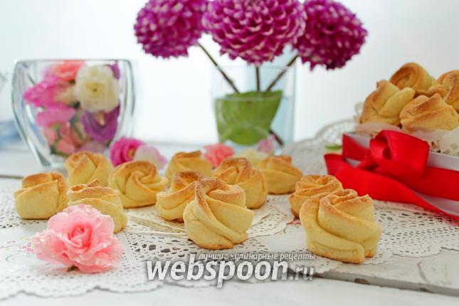 Фото Творожное печенье «Розочки»