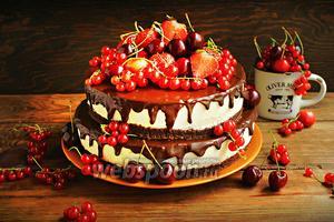 Торт-суфле «Птичье молоко»