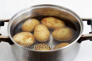 Картофель хорошо промыть и очистить щёткой. Можно снять кожицу. Отварить до готовности.
