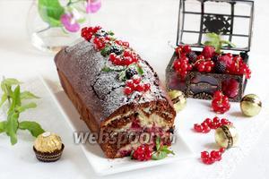 Шоколадно-смородиновый кекс