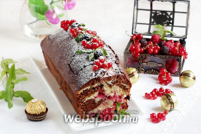 Фото Шоколадно-смородиновый кекс