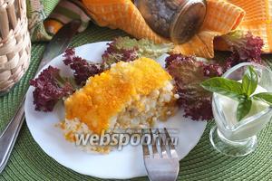 Рисовый пирог с треской