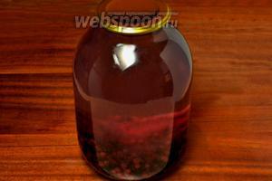 Кипятим воду и заливаем ягоды кипятком, накрываем крышкой и даём постоять минут 10.