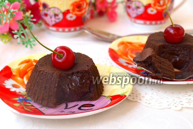Фото Горячее шоколадное пирожное