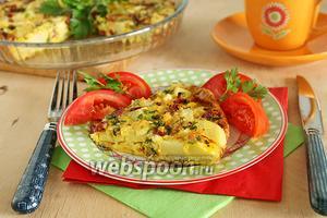 Омлет в духовке с картошкой и сыром