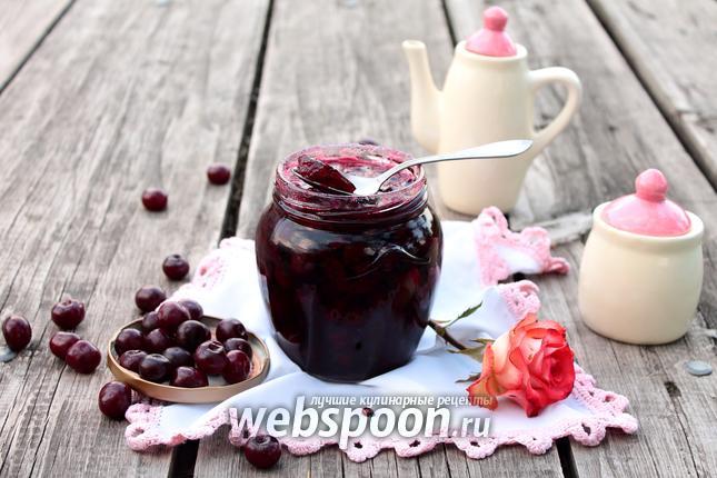 Фото Вишня, консервированная в желе