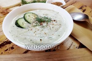 Крем-суп из сельдерея с огурцом