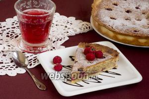 Малиновый пирог с франжипаном
