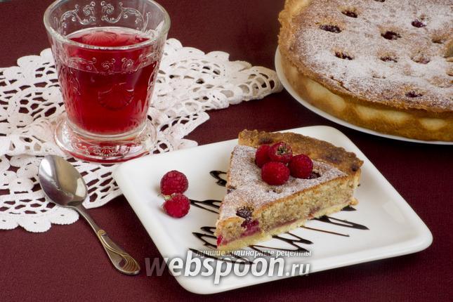 Фото Малиновый пирог с франжипаном