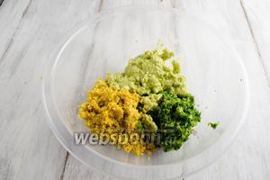 Подготовленные компоненты соуса выложить в блюдо.