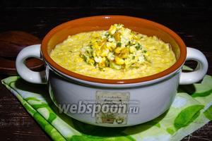 Мексиканский суп из печёной кукурузы