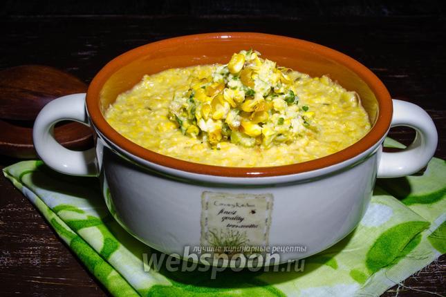 Фото Мексиканский суп из печёной кукурузы