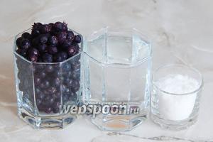 Для приготлвения полезного и вкусного компота из ирги нам понадобится сама ирга, вода и фруктоза. Последнюю можно заменить сахаром в больших количествах (ложки 3-4).