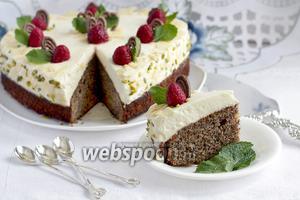 Маково-ореховый пирог со сливками
