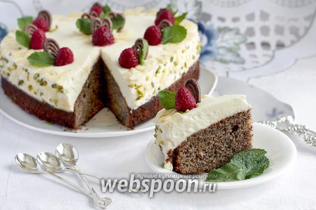 Фото Маково-ореховый пирог со сливками