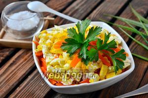 Салат из печени и икры минтая