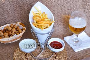 Картофель фри почти без масла в мультипечи