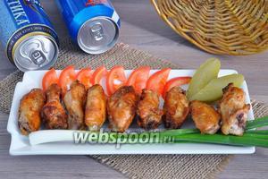 Куриные крылышки BBQ в устричном соусе