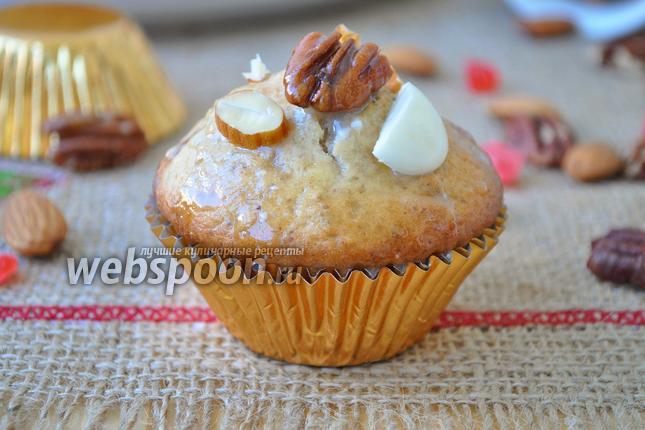 Фото Маффины с орехами пекан и миндалём