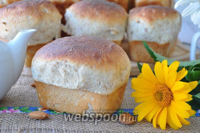 Фото Овсяный хлеб с миндалём