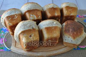 Выложить булочки из формы и дать им остыть.
