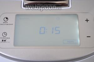Включить мальтиварку в режим «жарить» на 15 минут. Мультиварка Филипс 3095.