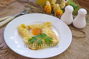 Блин с яйцом, бужениной и сулугуни