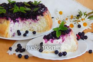 Пирог с творогом и иргой