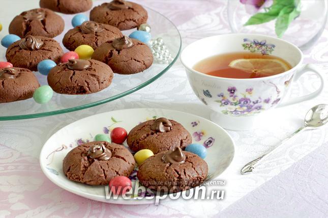 Фото Печенье «Шоколадные трещинки» без яиц