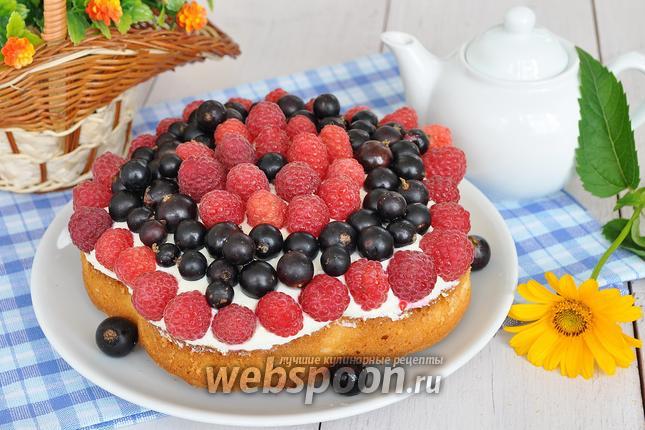 Фото Миндальный пирог с ягодами