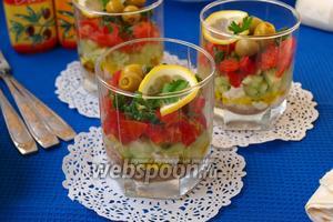 Веррины с тунцом и овощами