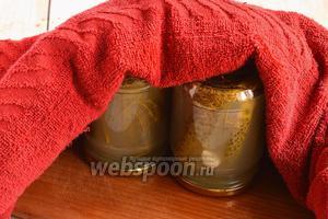 Закатать крышками и оставить до полного остывания под махровым полотенцем, перевернув банки вверх дном. Хранить в прохладном месте (подвал, кладовка).