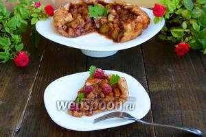 Пирог с грушей и белым вином на слоёном тесте