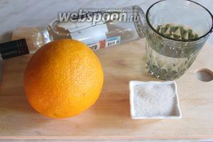 Для ликёра нам понадобятся свежие апельсины, вода, хорошего качества водка, сахар.