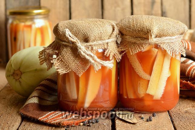 Фото Кабачки закусочные консервированные с кетчупом