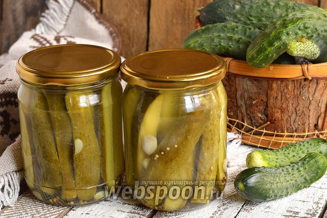 Фото Огурцы консервированные с семенами горчицы