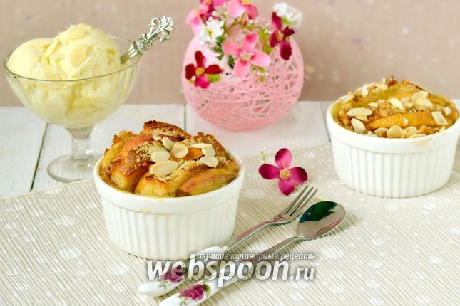 Фото Гратен «Французские тосты с персиками»