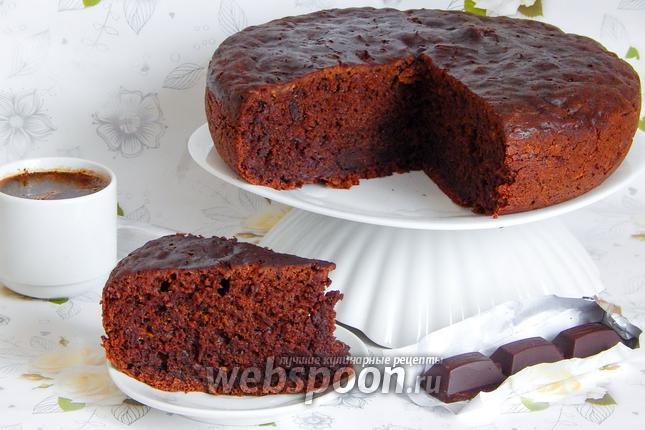 Фото Шоколадный пирог с кабачками в мультиварке