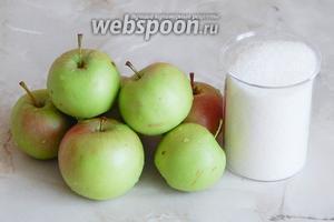 Для приготовления яблочного сока на зиму нам понадобятся яблоки и сахар (если очень сладкие, не нужно).