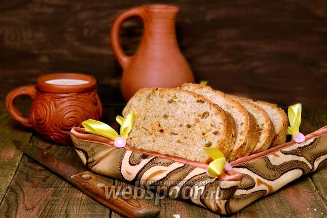 Рецепт Хлеб с сыром Чеддер и вяленым сладким перцем